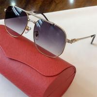 Occhiali da sole estate 2020 Vintage Men Square telaio in metallo Occhiali da sole pilota Specchio Classic Retro Occhiali da sole donne di lusso