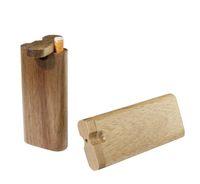Natural de madeira um repouso de madeira dugout tubos artesanais madeira abraçou com tubos de cerâmica filtros de cigarro tubos canos de fumar caixa de tubulação de madeira dugout