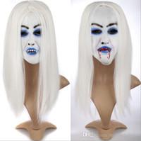 Парик косплей страшная маска банши призрак хэллоуин костюм аксессуары костюм парик ну вечеринку маски