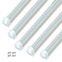 V 자형 2ft 4ft 5ft 6ft t8 일체형 18W 28W 36W LED 튜브 양면 SMD2835 LED 형광등 무료 배송