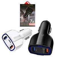 플러그 3 포트 어댑터 안드로이드를 충전 아이폰 듀얼 USB 충전기 빠른 들어 QC 3.0 차량용 충전기 유형 C 35W 7A 빠른 충전기