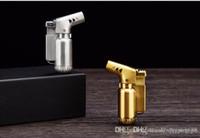 Mini metallo 1300C metallo butano accendino antivento Jet Flames torcia sigaretta in metallo sigaro torcia tasca portatile strumento per barbecue all'aperto