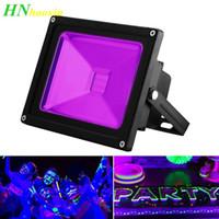Haoxin 10W 20W 30W al aire libre Negro UV AC85-265V ligero IP65 a prueba de agua Luz de la etapa Ultra Violeta luz de inundación del LED para el disco de DJ barra del partido