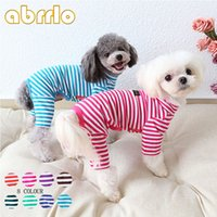 Abrrlo Dog Pajamas For Pet Dogs Cotton Striped Puppy Jumpsui...