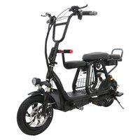 Двухколесный электрический самокат 12 дюймовый электрический велосипед 400 Вт 48 В взрослые складной портативный мощный велосипед с корзиной для домашних животных