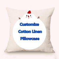 Free Customized Pillow Covers Cotton Linen Festival Gifts Di...