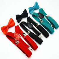 32 Colores Kids Suspenders Bow Pie Set para 1-10T Baby Braces Elastic Y-Back Boys Girls Suspenders Accesorios WCW466