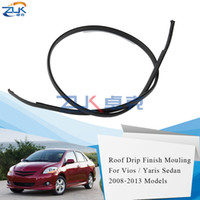 ZUK Toit Drip Finition de moulage avec clip en métal pour Toyota Vios Pour / de limousine 07-13 (asiatique) Yaris Sedan AU 07-13 Belta 06-12 JP