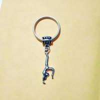 가방 홀더 매력 펜던트 자동차 키 체인 춤 / 체조 소녀 열쇠 고리 열쇠 고리 열쇠 고리 여성 남성 778