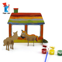 Diy القليل كتابات العالم مزرعة لغز 3d كرتون الحيوان الكرتون مصغرة لغز الأطفال التعليم لغز لعب