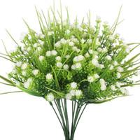 Sahte bebeğin Nefes Sahte Gypsophila Çalılıklar Simülasyon Yeşillik Çalılar Düğün Centerpieces Masa Çiçek Aranjman Buket Dolgu Beyaz