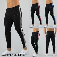 2019 Newest Mens Sweatpants Autumn Winter Man Gyms Fitness B...