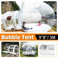 5m camping en plein air gonflable Bubble Tente Grande maison Maison Backyard Camping Cabin Lodge Air Bubble Tente transparente