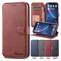 PU Porte-monnaie en cuir Téléphone pour iPhone 11 Pro X XR XS Max 6 7 8 Plus Calfskin Samsung Galaxy S20 Ultra S9 S10 note10 Lite Plus de couverture de cas