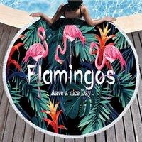 فلامنغو النبات الفن سلسلة جولة الشاطئ منشفة كبيرة ستوكات اليوغا بطانية حصيرة بيكيني outdoors الرياضة السباحة حمام منشفة للمرأة seadside