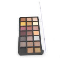 Paleta de sombras 12 fotos / lote 21 cores MatteShimmer Shdow Sombra Maquiagem W1014 Net 21.6g