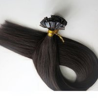 200g 1Set=200Strands Flat tip hair pre bonded keratin hair e...