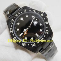 3 Color Topselling Watch Mens 42mm Explorer II 216570 PVD personalizado / DLC Acabado negro Asia 2813 Movimiento Relojes automáticos para hombres