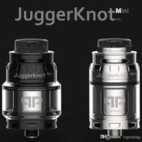 Clone QP Designs JuggerKnot Mini RTA substituível Tanque Atomizador vaporizador Single Coil ajustável Top Airflow 810 Drip Tip Hot bolo DHL