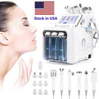 NUEVO 6 en 1 Máquina hidrofacial Hydro Dermabrasion Facial Peeling Ultrasonic Scrubber Scrubber Oxygen Spray Cuidado Microdermabrasión