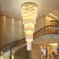 LED Modern K9 Kristal Avizeler Işıklar Armatür Amerikan Kristal Avize Amerikan Villa Otel Büyük Uzun Merdiven Eve Kadar Kapalı Aydınlatma