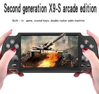 أحدث X9-S المحمولة لعبة لاعب 5.1 بوصة شاشة كبيرة المحمولة ألعاب mp4 لاعب مع كاميرا التلفزيون خارج tf الفيديو ل gba fc لعبة 16 جرام dhl