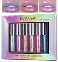 دروبشيبينغ HANDAIYAN 6Piece Lip Gloss Collection Moistarize Mermaid LipGloss Crystal Cream Lip Glaze Set 2.3ML * 6 Maquillage ..