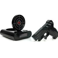 1 Takım Silah Çalar Saat Ateş Çalar Saat Kaydedilebilir Gadget Hedef Masaüstü Dijital Başucu Erteleme Masa Çalar Saatler Yaratıcı Hediye