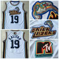 Erkekler 19 Aaliyah Bricklayers 1996 MTV Rock N Jock Jersey Film Basketbol Jersey Moda Tüm Dikişli Yüksek Kalite