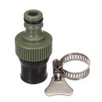 Plástico ajustável selo de conectores Jardim torneira da mangueira da água Toque JointRubber braçadeiras directamente na torneira prevenir fugas e pulverização.