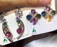Maravilloso Moda al por mayor Venta caliente aleatoria 10 unids / lotes Precio bajo de alta calidad Diamante 925 Silver Lady Harings 9.4kvb