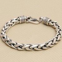 Prata sólida 925 Thick cadeia pulseira Homens Simples Design 100% real 925 Sterling Silver vintage legal Mens jóias dom gratuito Box