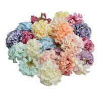 4.5 см гортензия ручной работы искусственный цветок голова свадьба украшение дома DIY венок подарок записки ремесло цветок головы оптом GB636