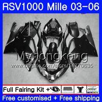 Кузов Для Aprilia RSV 1000R 1000 RV60 Mille 2003 2004 2005 2006 316HM.42 RSV1000RR Серый черный горячий RSV1000R RSV1000 R RR 03 04 05 06
