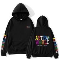 랩퍼 트래비스 스콧 Astroworld 디자이너 힙합 후드 캐주얼 후드 스웨터 남성 인쇄 하이 스트리트 풀오버