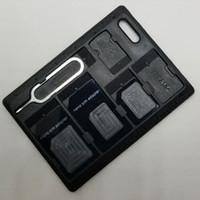 Accessorio unico del computer della cassa della scheda di memoria della scatola di carta di deviazione standard portatile di plastica per SDHC SDXC Micro carta di TF di TF SIM Vendita calda all'ingrosso di trasporto libero di SIM