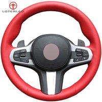 Rote Künstliche Leder-Lenkrad-Abdeckung für BMW M Sport G30 G31 G32 G20 G21 G12 G14 G15 G16 X3 G01 G02 X4 X5 G05 X7
