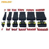FEELDO Auto Wasserdicht 1/2/3/4/5/6 Pin Way Elektrischer Draht Anschlussstecker Auto-Motorrad-Marine-HID AWG Sockel # 3924