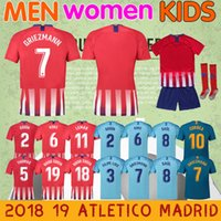 7037fc9b6afd8 201819 Atleticol camiseta de fútbol tailandia camiseta local Madrid  GRIEZMANN THOMAS HERNANDEZ LEMAR DIEGO COSTA hombres
