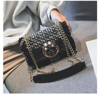 Mini Stripes Rhinestone Bags Shoulder Single Strap bags Fash...