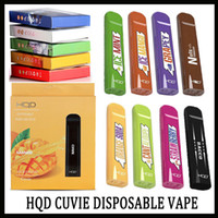 100% Original HQD CUVIE Kit Descartável 280 mah Bateria 1.5 ml Cartuchos Pods 300 Sopros Dispositivo 10 Sabor VS VGOD Stig Eon Pod Kit