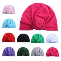 المولود الجديد قبعات الجمجمة 10 لون الطفل الرضيع قبعات الهندية الصلبة للأطفال الدونات عارضة التحوط كاب أطفال في الهواء الطلق مترهل قبعة صغيرة 06