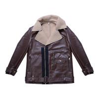 Casaco de lã Trench Inverno Casaco de Couro Outwear Overcoat Jacket Men Moda de Nova Quente fábrica frete grátis