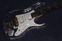 elektro gitar, Akrilik gövde .rosewood klavyeli guitarra, yüksek kaliteli el işçiliği 6 Strings gitaar, gerçek fotoğraflar