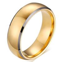 Topkwaliteit Trouwringen Tungsten Carbide Ringen Vergulde Engagement Bruiloft Mannen en Vrouwen Ringen Gratis Verzending