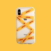 Personality Couple Dhl Pattern Phone Cover Case For Iphone X...