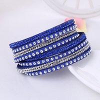 Алмазный браслет нового способа Длинные кожаные браслет ручной Multicolor очаровывает ожерелье для женщин Модный подарок ювелирных изделий 2020-Y