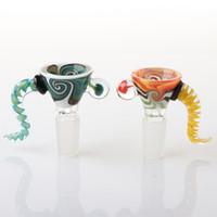 Nouvelle de haute qualité US Color Wig Wag de 14mm Bols de verre masculin pour le tabac Bong Bol Bowl Piece Bongs DAB Huile Plateau Types de tabac