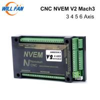Ventilador voluntad NVEM controlador Mach3 V2 Tarjeta 3 4 5 6 puerto Ethernet 300KHz Eje Para la máquina fresadora CNC máquina de grabado
