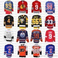2020 남자 Wayne Gretzky 66 Mario Lemieux 9 Bobby Hull Hockey Jersey 9 Gordie Howe 4 Bobby Orr 33 Patrick Roy 88 Eric Lindros Leetch Messier